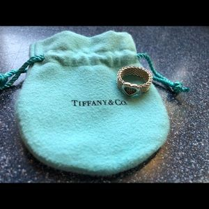 Tiffany heart mesh ring